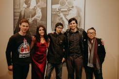 "The team of ""Expiration"" at the IndieX November live screening in Hollywood"