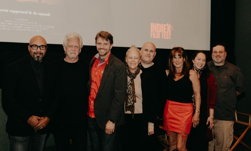 "The team of ""Cemetery Tales: A Tale of Two Sisters"" at the IndieX November live screening in Hollywood"