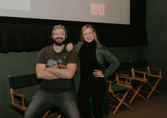 "The team of ""Proper British Sex"" at the IndieX November live screening in Hollywood"