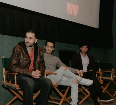 """The team of """"Content Guidelines"""" at the IndieX November live screening in Hollywood"""