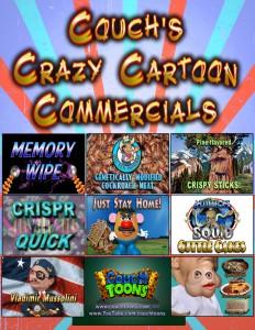 Couch's Crazy Cartoon Commercials